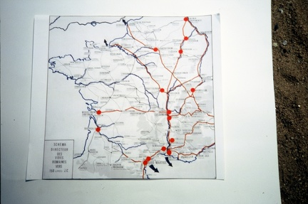 Carte de France des voies romaines